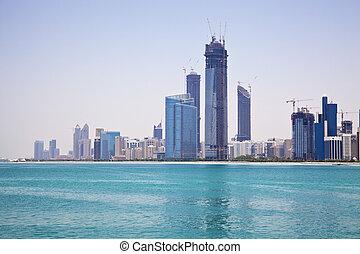 skyline, uae, abu dhabi
