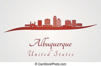 skyline, v2, vermelho, albuquerque