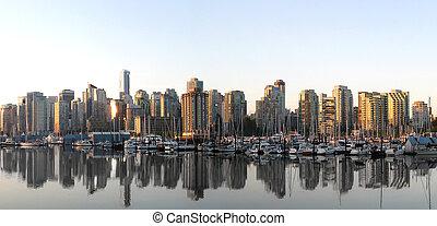 skyline, vancouver, panorama