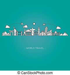 skyline, viaje turismo, linha