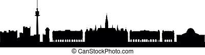 Skyline Vienna - detailed vector skyline of Vienna