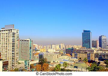 skyline view of Santiago de Chile