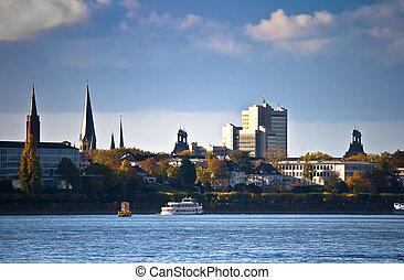 skyline, von, bonn, deutschland