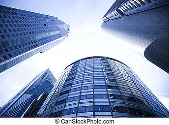 skyline, von, singapur