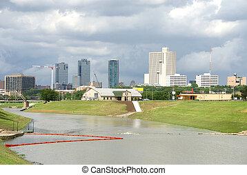 skyline, waarde, texas, fort