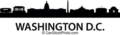 Skyline Washington D.C. - detailed silhouette of Washington ...