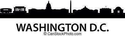 Skyline Washington D.C. - detailed silhouette of Washington...