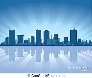 skyline, wert, fort