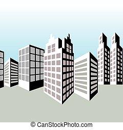Skyline with big buildings