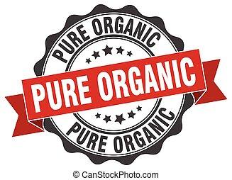 skylt., stamp., organisk, ren, försegla