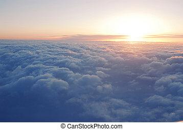 skyn, ovanför