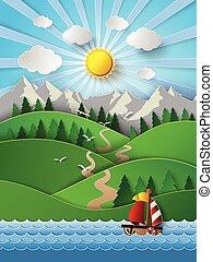 skyn, segelbåt