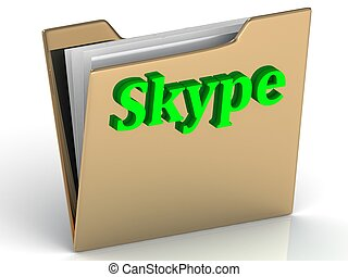 Skype - bright green letters on a folder