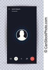 Skype call screen template