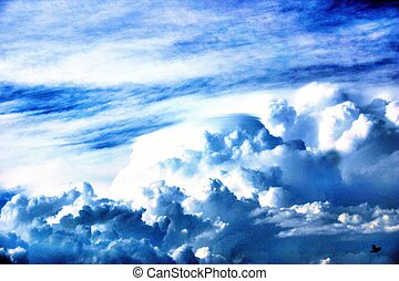 Skyscape - A skyscape in blue