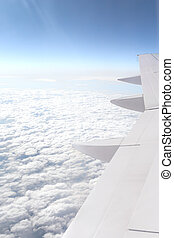 Skyscape - Aerial view of sunny blue sky.