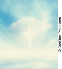 Christian Glowing Cross