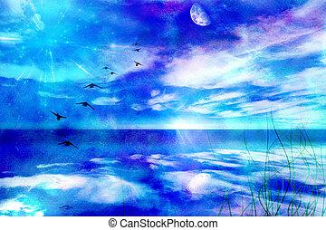skyscape, luna