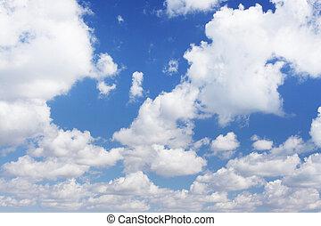 skyscape with cumulus cloud under the blue sky