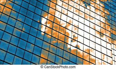 Skyscaper timelapse - Timelapse of a skyscraper facade...