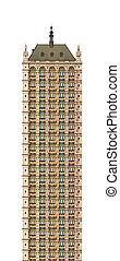 skyscraper - An illustration of an old highrise building