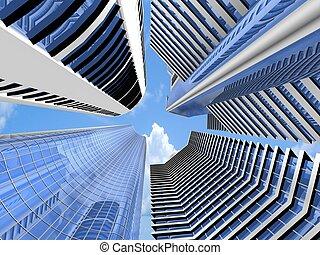 Skyscraper background - Skyscraper architecture background....