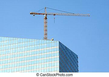 Skyscraper building construction