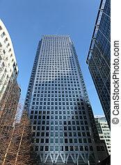 Skyscraper buildings in Canary Wharf London UK - Tall ...