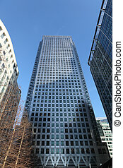 Skyscraper buildings in Canary Wharf London UK - Tall...