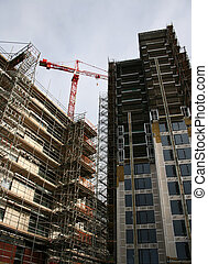 Skyscraper construction site
