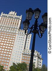 Skyscraper in the Spain Square. Madrid. Spain