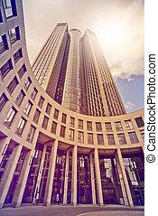 Skyscraper in the sun