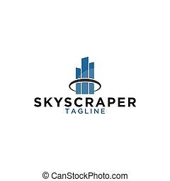 Skyscraper logo design template
