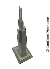 skyscraper model