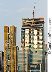Skyscraper Office Tower Under Construction in Bangkok Thailand