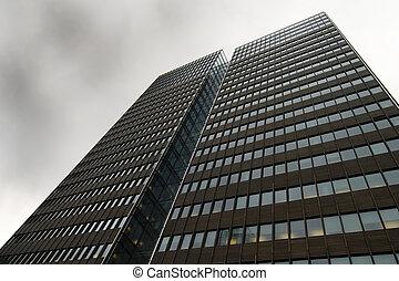 Skyscraper - Tall skyscraper reaching into the sky