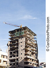 Skyscraper under construction 1