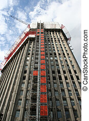 skyscraper under refurbishment