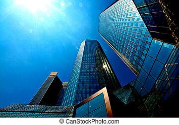 Skyscraper - Upside view of an skysraper building in...