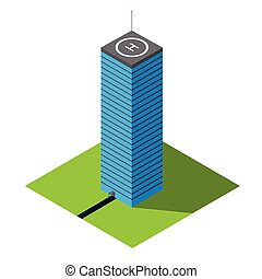 Skyscraper vector isometric illustration