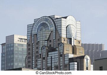 skyscraper with windows