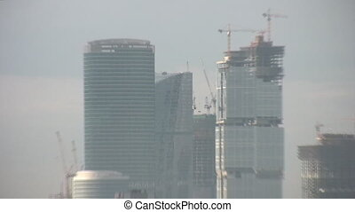 skyscraper zoom city Moscow