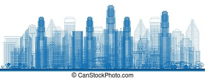 skyscrapers., 都市 スカイライン, アウトライン