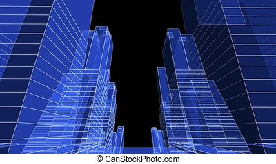 Skyscrapers - Abstract 3d skyscrapers