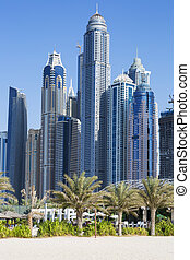 jumeirah beach - Skyscrapers and jumeirah beach in Dubai....