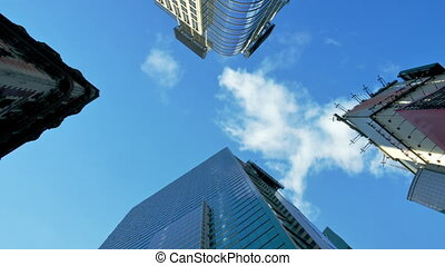 Skyscrapers and sky