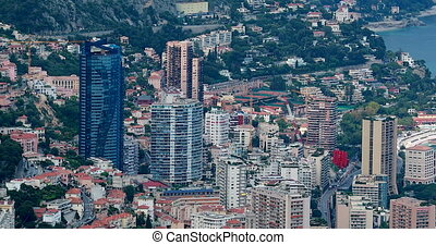 Skyscrapers At Monte-Carlo Monaco - Aerial View