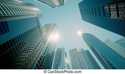 Skyscrapers, Business Buildings, Business Center (graded...