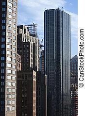 skyscrapers., ciudad nueva york