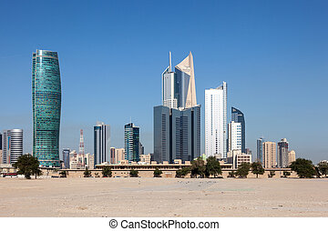 Skyscrapers downtown in Kuwait City, Middle East